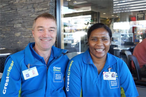 CrestClean franchisees in cafe Taupo
