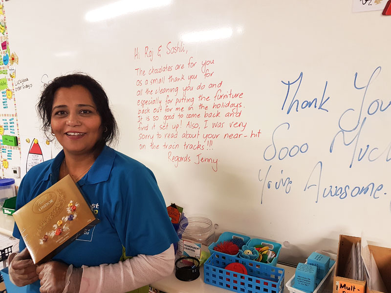 Seshli Anand with the chocolates she and her husband Raj received.