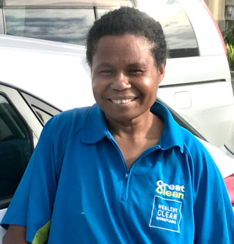 Tish Geaumb began cleaning to subsidise her living expenses when she was a student.