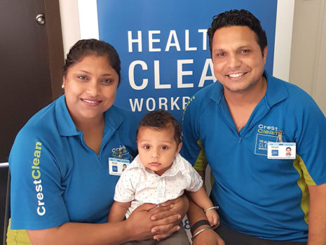 Kuljinder Kaur and Jasvir Singh and their baby boy Aikam.