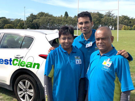 Satish and Sasita Kumar are originally from Fiji. They are seen with their son Aniket.