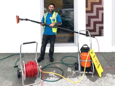 Amardeep Singh has just completed his Pure Water Window Cleaning training.