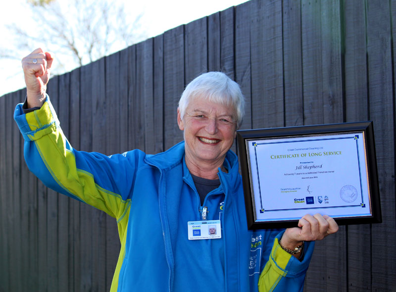Jill Shepherd has just clocked up seven years with CrestClean.