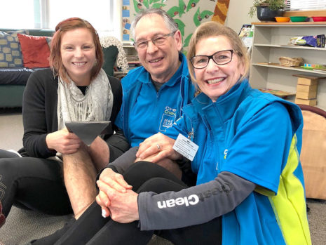 Joeline Jones with CrestClean's Colin and Linda Bartlett.