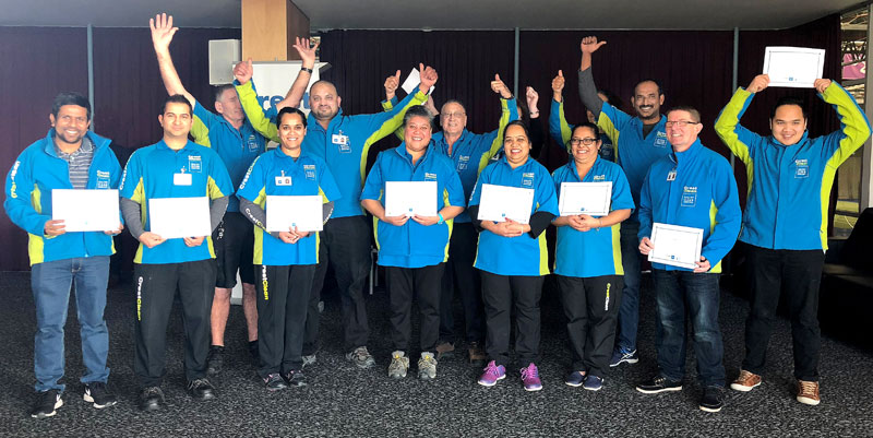 Every month a Certificate of Excellence is awarded by each regional manager to the franchisee who gets the highest number of customer accolades. These proud Dunedin franchisees received their awards at the recent Dunedin Team Meeting.