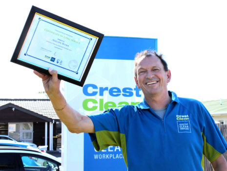 Malcolm Brown is celebrating three years with CrestClean.