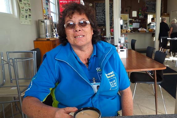 Aroha Metuamate at her local cafe Feilding