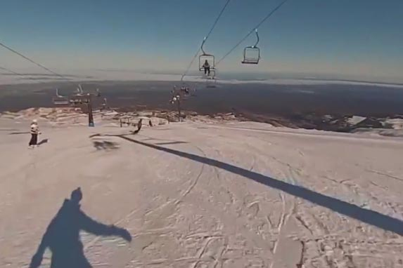 Snow skiing on Whakapapa - Mt Ruapehu