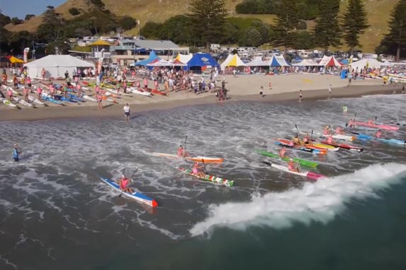 Mt Maunganui main beach surf lifesaving competition
