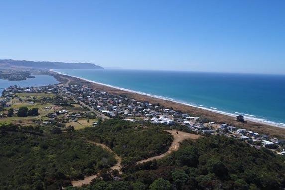 Waihi town coastal scenery