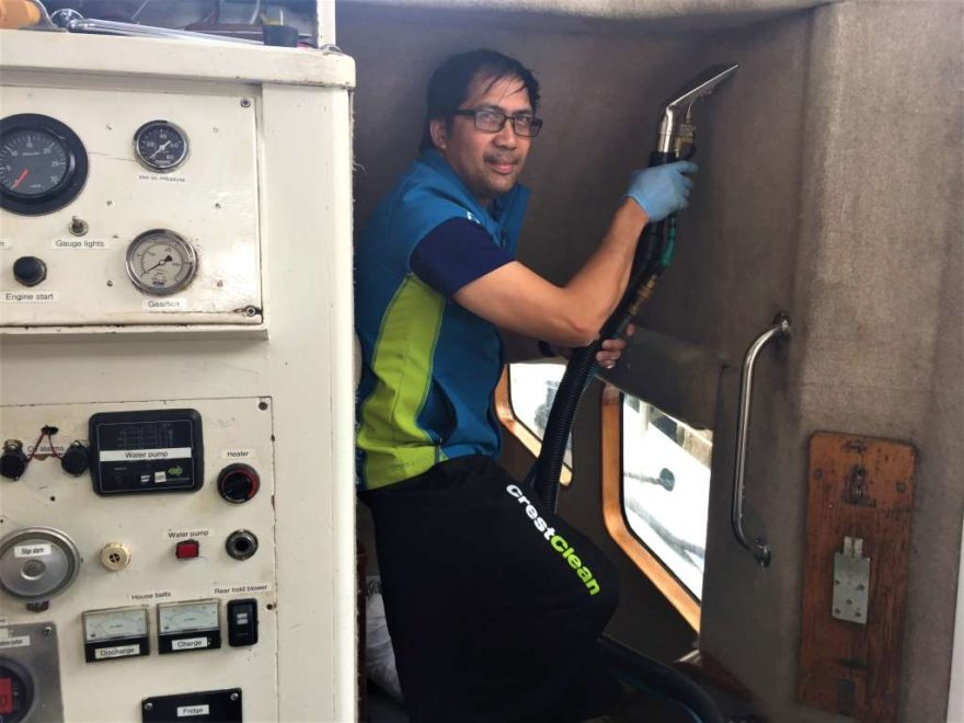 Charter boat gets carpet clean