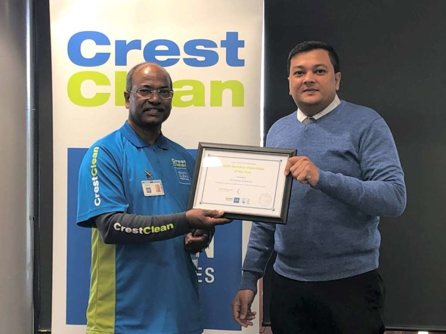 CrestClean franchisee receives award