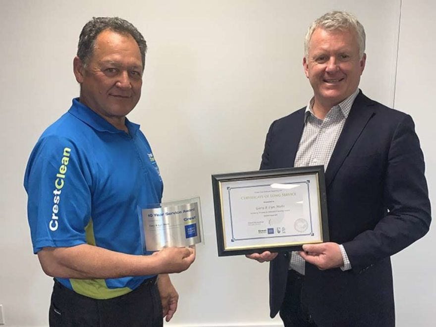 Long service award presented to cleaner