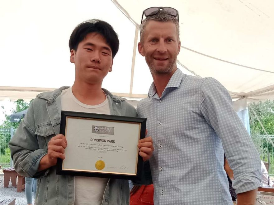 Cleaner receives award