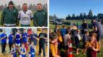 Kids' sports volunteers.