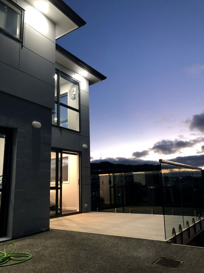 Exterior shot of house.